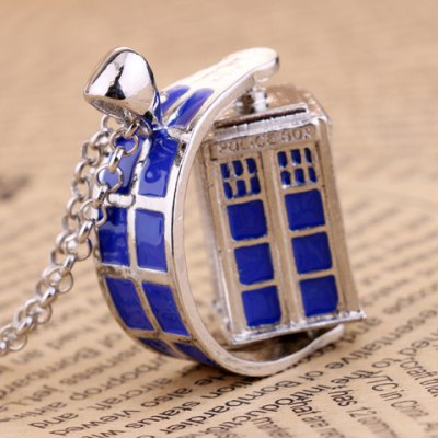Fashionable Doctor Who Rotatable Necklace For Women