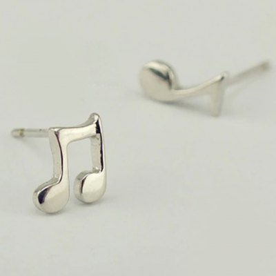 Music Note Asymmetric Stud Earrings