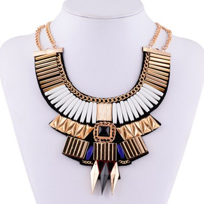 Vintage Layered Geometric Necklace For Women
