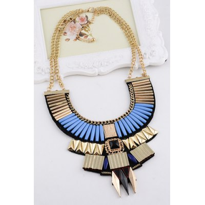 Vintage Layered Geometric Necklace For Women [zob] supply of new original omron safety door switch d4bs 35fs d4ns 4af substitute 2pcs lot
