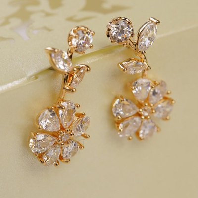 Pair of Chic Rhinestoned Leaf Flower Earrings For WomenEarrings<br>Pair of Chic Rhinestoned Leaf Flower Earrings For Women<br><br>Earring Type: Stud Earrings<br>Gender: For Women<br>Material: Rhinestone<br>Style: Trendy<br>Shape/Pattern: Floral<br>Length: 3CM-4CM<br>Weight: 0.05KG<br>Package Contents: 1 x Earring(Pair)