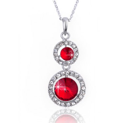 Elegant Rhinestone Round Pendant Necklace For WomenNecklaces &amp; Pendants<br>Elegant Rhinestone Round Pendant Necklace For Women<br><br>Item Type: Pendant Necklace<br>Gender: For Women<br>Material: Rhinestone<br>Style: Trendy<br>Shape/Pattern: Round<br>Length: 45CM<br>Weight: 0.10KG<br>Package Contents: 1 x Necklace