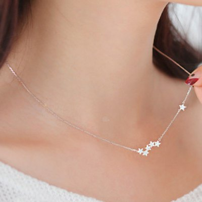 Fresh Solid Color Star Necklace