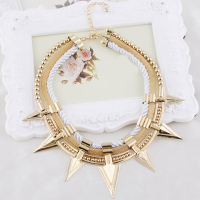 Characteristic Pointed Cone Rivet Layered Womens NecklaceNecklaces &amp; Pendants<br>Characteristic Pointed Cone Rivet Layered Womens Necklace<br><br>Item Type: Pendant Necklace<br>Gender: For Women<br>Style: Classic<br>Shape/Pattern: Others<br>Length: 42CM<br>Weight: 0.15KG<br>Package Contents: 1 x Necklace