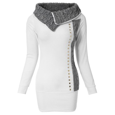 Stylish Turn-Down Collar Rivet Embellished Long Sleeve T-Shirt For WomenWomens T-Shirts<br>Stylish Turn-Down Collar Rivet Embellished Long Sleeve T-Shirt For Women<br><br>Material: Cotton Blends<br>Clothing Length: Regular<br>Sleeve Length: Full<br>Collar: Turn-down Collar<br>Style: Fashion<br>Season: Fall,Winter<br>Pattern Type: Solid<br>Weight: 0.364KG<br>Package Contents: 1 x T-Shirt