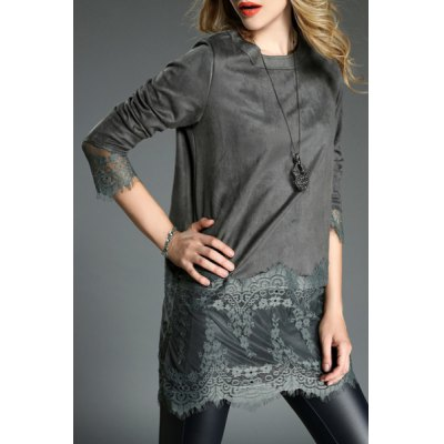 Stylish Womens Lace Jewel Neck Long Sleeve DressWomens Dresses<br>Stylish Womens Lace Jewel Neck Long Sleeve Dress<br><br>Style: Casual<br>Material: Polyester<br>Silhouette: Straight<br>Dresses Length: Mini<br>Neckline: Jewel Neck<br>Sleeve Length: Long Sleeves<br>Pattern Type: Patchwork<br>With Belt: No<br>Season: Spring,Fall,Winter<br>Weight: 0.280KG<br>Package Contents: 1 x Dress