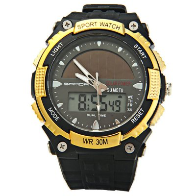 Sanda 719 Solar Power LED Sports Watch