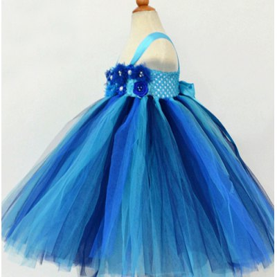 fashionable-sleeveless-flower-embellish-color-block-multilayered-ball-gown-dress-for-girl