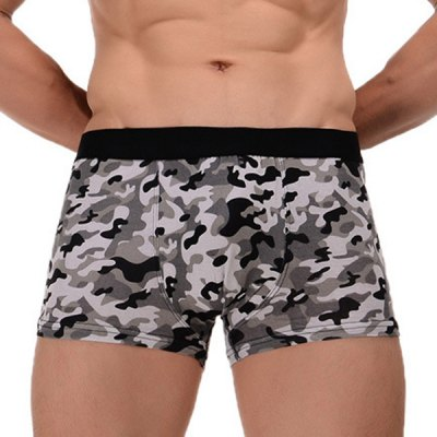 Elastic Waist Comfortable Camouflage Pattern Men's Boxer Brief