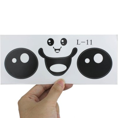 Фотография Cute Face Design Decal Sticker for Toilet Glass Wall