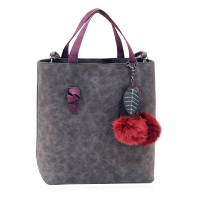 Vintage Fuzz Ball and Pendant Design Women's Tote Bag