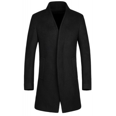Stand Collar Long Sleeves Coat