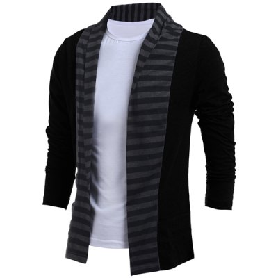 Turn-Down Collar Color Block Splicing Stripe Long Sleeve Mens CardiganMens Sweaters &amp; Cardigans<br>Turn-Down Collar Color Block Splicing Stripe Long Sleeve Mens Cardigan<br><br>Collar: Turn-down Collar<br>Material: Cotton, Polyester<br>Package Contents: 1 x Cardigan<br>Sleeve Length: Full<br>Style: Fashion<br>Type: Cardigans<br>Weight: 0.324kg
