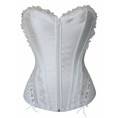Sexy Strapless Sleeveless Solid Color Laciness Slimming Women's Corset