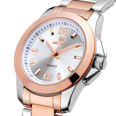 MEGIR 5006L Stainless Steel Band Women Quartz WatchWomens Watches<br>MEGIR 5006L Stainless Steel Band Women Quartz Watch<br><br>Brand: MEGIR<br>Watches categories: Female table<br>Available color: Black,Gold,Silver<br>Style: Business<br>Movement type: Quartz watch<br>Shape of the dial: Round<br>Display type: Analog<br>Case material: Alloy<br>Band material: Stainless Steel<br>Clasp type: Sheet folding clasp<br>The dial thickness: 0.9 cm / 0.35 inches<br>The dial diameter: 3.3 cm / 1.30 inches<br>The band width: 1.79 cm<br>Wearable length: 21 cm<br>Product weight: 0.075 kg<br>Package weight: 0.125 kg<br>Product size (L x W x H): 21.50 x 3.30 x 0.90 cm / 8.46 x 1.3 x 0.35 inches<br>Package size (L x W x H): 24.00 x 4.30 x 3.00 cm / 9.45 x 1.69 x 1.18 inches<br>Package Contents: 1 x MEGIR 5006L Watch