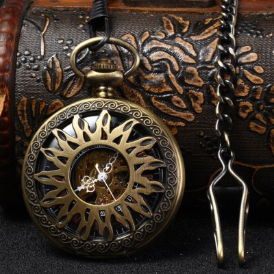 Hollow Out Mechanical Pocket Watch