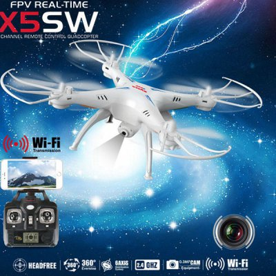 Syma X5SW Explorers 2 2.4GHz 4 Channel WiFi FPV RC Quadcopter with 0.3MP HD Camera