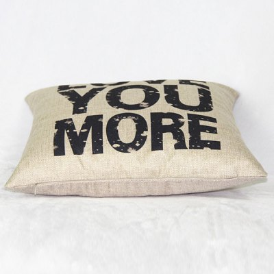 Funny Linen Letter Pattern  Decorative Pillowcase (Without Pillow Inner)