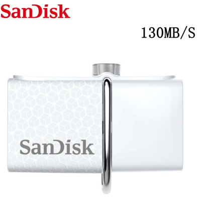 Original SanDisk SDDD2 2 in 1 32GB OTG USB 3.0 Flash Drive