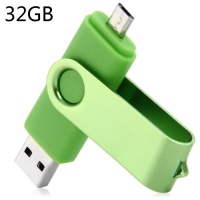 2 en 1 de 32GB USB OTG 2.0 de Flash Drive