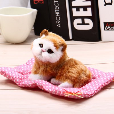 Simulation Squatting Cat Craft Toy