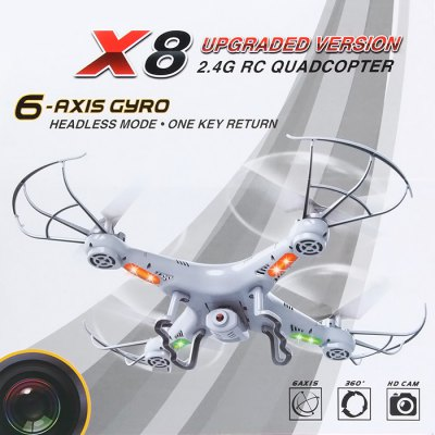 BAYANGTOYS X8 2.4G 4CH 6 Axis Gyro RC Quadcopter with 2.0MP HD Camera