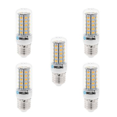 5 x BRELONG E27 7W SMD 5730 700Lm LED Corn Lamp