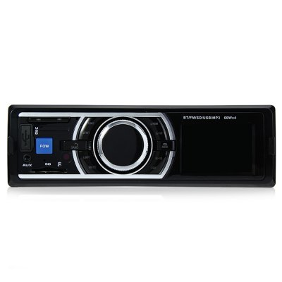 12V Car Stereo In-Dash FM Radio MP3 Audio PlayerFM Transmitters &amp; Players<br>12V Car Stereo In-Dash FM Radio MP3 Audio Player<br><br>Built-in EQ: Classic,Jazz,Pops,Rock<br>Features: Breakpoint memory playing, IR Remote Control<br>FM Channel: 87.5-108MHz<br>Material: Electronic Components, Metal, Plastic<br>Media Format: JPEG, MP4, WAV, MP3, WMA<br>Micro SD/TF Card Expansion (Max.): 64GB<br>Music Source: 3.5mm stereo headphone jack,Cellphone,SD card,USB flash disk<br>Output Power: 4 x 60W<br>Package Contents: 1 x 12V Car Stereo In-Dash FM Radio MP3 Audio Player Support Bluetooth with USB SD AUX Port, 1 x Charging Cable, 1 x English User Manual, 1 x Remote Control<br>Package size (L x W x H): 21.60 x 18.50 x 8.00 cm / 8.5 x 7.28 x 3.15 inches<br>Package weight: 0.6700 kg<br>Product size (L x W x H): 18.50 x 14.00 x 5.80 cm / 7.28 x 5.51 x 2.28 inches<br>Product weight: 0.5010 kg<br>Screen size: 1.2 inch<br>Type: Car MP3 Player<br>Voltage: 12V