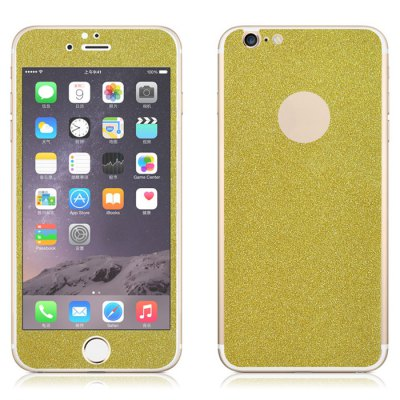 Angibabe Tempered Glass Front and Back Protector Film for iPhone 6 / 6S Plus Shimmering Powder Design 0.3mm Thickness fema for iphone 6s plus 6 plus front back 6d colorful laser tempered glass protector films seamless triangles