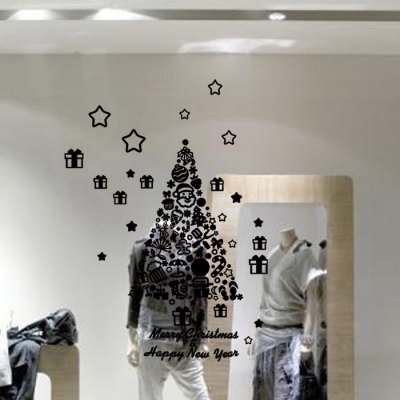 M-26 Christmas Tree Style Wall StickersChristmas Supplies<br>M-26 Christmas Tree Style Wall Stickers<br><br>Art Style: Plane Wall Stickers, Toilet Stickers<br>Effect Size (L x W): 113 x 81cm<br>Functions: Decorative Wall Stickers<br>Hang In/Stick On: Bathroom,Living Rooms,Bedrooms,Nurseries,Offices,Cafes,Hotels,Toilet,Stair,Lobby,Kids Room<br>Material: Vinyl(PVC)<br>Package Contents: 1 x Wall Sticker<br>Package size (L x W x H): 58 x 10 x 10 cm / 22.79 x 3.93 x 3.93 inches<br>Package weight: 0.150 kg<br>Product size (L x W x H): 113 x 81 x 0.2 cm / 44.41 x 31.83 x 0.08 inches<br>Product weight: 0.100 kg<br>Subjects: Botanical