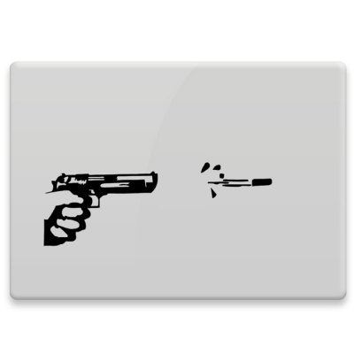 Hat-Prince Decorative Skin Sticker Removable with Shooting Design