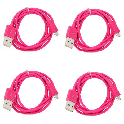 1M Universal Micro USB Data / Charging Cable - 4PCS