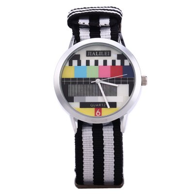 JIALILEI 58893 Canvas Band Male Quartz WatchMens Watches<br>JIALILEI 58893 Canvas Band Male Quartz Watch<br><br>Band material: Canvas<br>Brand: Jialilei<br>Case material: Stainless Steel<br>Clasp type: Pin buckle<br>Display type: Analog<br>Movement type: Quartz watch<br>Package Contents: 1 x JIALILEI 58893 Watch<br>Package size (L x W x H): 27 x 4.8 x 2 cm / 10.61 x 1.89 x 0.79 inches<br>Package weight: 0.085 kg<br>Product size (L x W x H): 26 x 3.8 x 1 cm / 10.22 x 1.49 x 0.39 inches<br>Product weight: 0.035 kg<br>Shape of the dial: Round<br>The band width: 2.0 cm / 0.79 inches<br>The dial diameter: 3.8 cm / 1.49 incdes<br>The dial thickness: 1.0 cm / 0.39 inches<br>Watch color: Red, Blue + White + Red, Army Green, Green, White<br>Watch style: Fashion<br>Watches categories: Male table<br>Wearable length: 14 - 21.5 cm / 5.51 - 8.46 inches