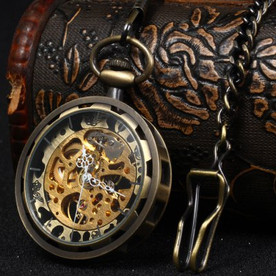 Hollow Out Mechanical Pocket Chain Watch with ClipPocket Watches<br>Hollow Out Mechanical Pocket Chain Watch with Clip<br><br>Available Color: Bronze<br>Band material: Alloys<br>Case material: Alloys<br>Display type: Analog<br>Movement type: Mechanical watch<br>Package Contents: 1 x Mechanical Pocket Watch<br>Package size (L x W x H): 8.00 x 8.00 x 3.00 cm / 3.15 x 3.15 x 1.18 inches<br>Package weight: 0.117 kg<br>Product size (L x W x H): 40.00 x 4.40 x 1.00 cm / 15.75 x 1.73 x 0.39 inches<br>Product weight: 0.067 kg<br>Shape of the dial: Round<br>The dial diameter: 4.4 cm / 1.73 inches<br>The dial thickness: 1.0 cm / 0.39 inches<br>Watch style: Hollow-out<br>Watches categories: Pocket watch