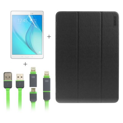 ENKAY 3 in 1 Screen Film Cable Case for Samsung Galaxy Tab A 9.7 / T550