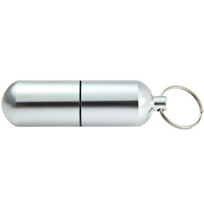 Water Resistant Aluminum Alloy Pill BoxEmergency Shelter and First Aid<br>Water Resistant Aluminum Alloy Pill Box<br><br>Color: Silver<br>Material: Aluminum Alloy<br>Package Contents: 1 x Aluminum Alloy Pill Box<br>Package weight: 0.057 kg<br>Product weight: 0.026 kg<br>Type: Other Camping Gear