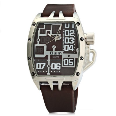 Oulm 3286 Sports Quartz Watch with Rubber Band for MenMens Watches<br>Oulm 3286 Sports Quartz Watch with Rubber Band for Men<br><br>Available Color: Black,Blue,Brown,Gray<br>Band material: Rubber<br>Brand: Oulm<br>Case material: Stainless Steel<br>Clasp type: Pin buckle<br>Display type: Analog<br>Movement type: Quartz watch<br>Package Contents: 1 x Oulm 3286 Watch<br>Package size (L x W x H): 28.50 x 6.00 x 2.30 cm / 11.22 x 2.36 x 0.91 inches<br>Package weight: 0.150 kg<br>Product size (L x W x H): 27.50 x 5.00 x 1.30 cm / 10.83 x 1.97 x 0.51 inches<br>Product weight: 0.100 kg<br>Shape of the dial: Rectangle<br>Style elements: Big dial<br>The band width: 2.0 cm / 0.79 inches<br>The dial diameter: 5.0 cm / 1.97 inches<br>The dial thickness: 1.3 cm / 0.51 inches<br>Watch style: Trends in outdoor sports<br>Watches categories: Male table<br>Wearable length: 18 - 24 cm / 7.09 - 9.45 inches