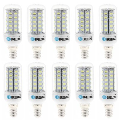 10 x BRELONG E14 7W SMD 5730 700Lm LED Corn LampCorn Bulbs<br>10 x BRELONG E14 7W SMD 5730 700Lm LED Corn Lamp<br><br>Available Light Color: White,Warm White<br>Brand: BRELONG<br>CCT/Wavelength: 3000-3500K,6000-6500K<br>Emitter Types: SMD 5730<br>Features: Long Life Expectancy, Low Power Consumption<br>Holder: E27,E14,G9<br>Luminous Flux: 700Lm<br>Output Power: 7W<br>Package Contents: 10 x BRELONG 7W LED Corn Bulb<br>Package size (L x W x H): 13.2 x 9.9 x 10.7 cm / 5.19 x 3.89 x 4.21 inches<br>Package weight: 0.430 kg<br>Product size (L x W x H): 9.7 x 3 x 3 cm / 3.81 x 1.18 x 1.18 inches<br>Product weight: 0.320 kg<br>Total Emitters: 48<br>Type: Corn Bulbs<br>Voltage (V): AC 220-240