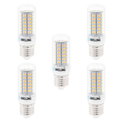 5pcs BRELONG 9W E27 SMD 5730 900Lm LED Corn LightCorn Bulbs<br>5pcs BRELONG 9W E27 SMD 5730 900Lm LED Corn Light<br><br>Available Light Color: White,Warm White<br>Brand: BRELONG<br>CCT/Wavelength: 3000-3500K,6000-6500K<br>Emitter Types: SMD 5730<br>Features: Long Life Expectancy, Low Power Consumption<br>Holder: E27,E14,G9<br>Luminous Flux: 900Lm<br>Output Power: 9W<br>Package Contents: 5 x BRELONG 9W LED Corn Bulb<br>Package size (L x W x H): 10.7 x 9.9 x 6.6 cm / 4.21 x 3.89 x 2.59 inches<br>Package weight: 0.240 kg<br>Product size (L x W x H): 9.7 x 3 x 3 cm / 3.81 x 1.18 x 1.18 inches<br>Product weight: 0.160 kg<br>Total Emitters: 56<br>Type: Corn Bulbs<br>Voltage (V): AC 220-240