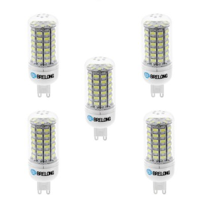 5PCS BRELONG G9 SMD 5730 12W 1200LM LED Corn LampCorn Bulbs<br>5PCS BRELONG G9 SMD 5730 12W 1200LM LED Corn Lamp<br><br>Available Light Color: White,Warm White<br>Brand: BRELONG<br>CCT/Wavelength: 3000-3500K,6000-6500K<br>Emitter Types: SMD 5730<br>Features: Long Life Expectancy, Low Power Consumption<br>Function: Studio and Exhibition Lighting, Commercial Lighting, Home Lighting<br>Holder: E27,E14,G9<br>Luminous Flux: 1200Lm<br>Output Power: 12W<br>Package Contents: 5 x BRELONG 12W LED Corn Bulb<br>Package size (L x W x H): 10.7 x 9.9 x 6.6 cm / 4.21 x 3.89 x 2.59 inches<br>Package weight: 0.255 kg<br>Product size (L x W x H): 9.7 x 3 x 3 cm / 3.81 x 1.18 x 1.18 inches<br>Product weight: 0.175 kg<br>Total Emitters: 69<br>Type: Corn Bulbs<br>Voltage (V): AC 220-240