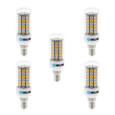 5PCS BRELONG E14 SMD 5730 12W 1200LM LED Corn LampCorn Bulbs<br>5PCS BRELONG E14 SMD 5730 12W 1200LM LED Corn Lamp<br><br>Available Light Color: White,Warm White<br>Brand: BRELONG<br>CCT/Wavelength: 3000-3500K,6000-6500K<br>Emitter Types: SMD 5730<br>Features: Long Life Expectancy, Low Power Consumption<br>Function: Studio and Exhibition Lighting, Commercial Lighting, Home Lighting<br>Holder: E27,E14,G9<br>Luminous Flux: 1200Lm<br>Output Power: 12W<br>Package Contents: 5 x BRELONG 12W LED Corn Bulb<br>Package size (L x W x H): 10.7 x 9.9 x 6.6 cm / 4.21 x 3.89 x 2.59 inches<br>Package weight: 0.255 kg<br>Product size (L x W x H): 9.7 x 3 x 3 cm / 3.81 x 1.18 x 1.18 inches<br>Product weight: 0.175 kg<br>Total Emitters: 69<br>Type: Corn Bulbs<br>Voltage (V): AC 220-240