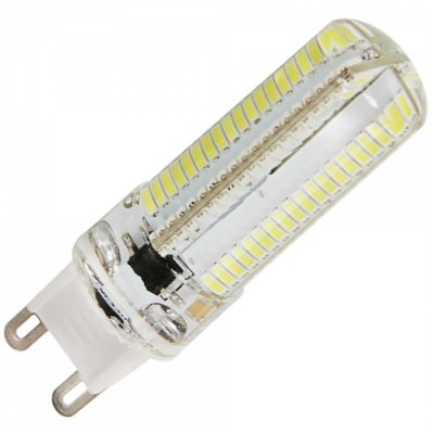 5PCS G9 10W 1050LM SMD 3014 Dimmable LED Corn BulbLED Bi-pin Lights<br>5PCS G9 10W 1050LM SMD 3014 Dimmable LED Corn Bulb<br><br>Available Light Color: White,Warm White<br>CCT/Wavelength: 6000-6500K,2800-3200K<br>Emitter Types: SMD 3014<br>Features: Long Life Expectancy, Dimmable, Low Power Consumption<br>Function: Commercial Lighting, Studio and Exhibition Lighting, Home Lighting<br>Holder: G9<br>Lifespan: 30000h<br>Luminous Flux: 1050Lm<br>Output Power: 10W<br>Package Contents: 5 x G9 LED Corn Light<br>Package size (L x W x H): 8.40 x 7.80 x 5.60 cm / 3.31 x 3.07 x 2.2 inches<br>Package weight: 0.1750 kg<br>Product size (L x W x H): 6.20 x 1.50 x 1.50 cm / 2.44 x 0.59 x 0.59 inches<br>Product weight: 0.0140 kg<br>Sheathing Material: Silicone<br>Total Emitters: 152<br>Type: Corn Bulbs<br>Voltage (V): AC 220-240