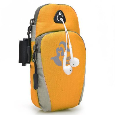 Arm Bag with Earphone Hole / Velcro Design for Mobile Phone