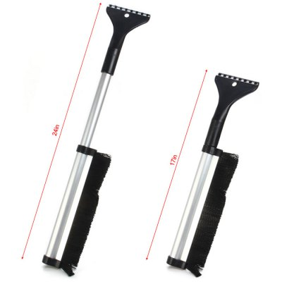 2 in 1 Aluminum Snow Brush / Ice ScraperOther Tools<br>2 in 1 Aluminum Snow Brush / Ice Scraper<br><br>Classification: Hand tools<br>Color: Silver<br>Function: Sweep Snow or Ice<br>Material: Aluminum, Plastic<br>Package Contents: 1 x Aluminum Retracted Snow Brush / Ice Scraper<br>Package size (L x W x H): 45 x 13 x 12 cm / 17.69 x 5.11 x 4.72 inches<br>Package weight: 0.293 kg<br>Product size (L x W x H): 42 x 10 x 10 cm / 16.51 x 3.93 x 3.93 inches<br>Product weight: 0.193 kg<br>Special features: Retracted<br>Type: Hand tools