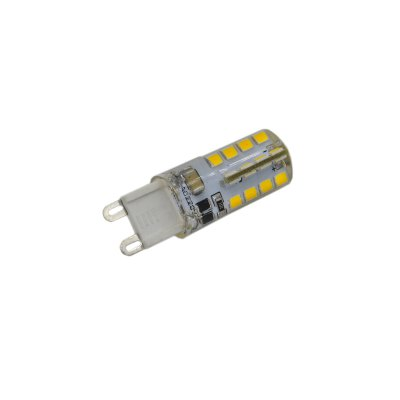 5PCS 3.5W G9 SMD 2835 240Lm LED Corn Bulb Light ( 3000K )LED Bi-pin Lights<br>5PCS 3.5W G9 SMD 2835 240Lm LED Corn Bulb Light ( 3000K )<br><br>Angle: 360 degree<br>Available Light Color: White,Warm White<br>CCT/Wavelength: 3000K,6000K<br>Emitter Types: SMD 3014<br>Features: Long Life Expectancy, Energy Saving<br>Function: Commercial Lighting, Studio and Exhibition Lighting, Home Lighting<br>Holder: G9<br>Luminous Flux: 240Lm<br>Output Power: 3.5W<br>Package Contents: 5 x LED Corn Light<br>Package size (L x W x H): 12 x 9 x 2.5 cm / 4.72 x 3.54 x 0.98 inches<br>Package weight: 0.130 kg<br>Product size (L x W x H): 4.9 x 1.5 x 1.5 cm / 1.93 x 0.59 x 0.59 inches<br>Product weight: 0.010 kg<br>Sheathing Material: Silicone<br>Total Emitters: 32<br>Type: Corn Bulbs<br>Voltage (V): AC 220
