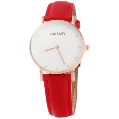 Cagarny 6813 Male Japan Quartz Watch with Leather BandMens Watches<br>Cagarny 6813 Male Japan Quartz Watch with Leather Band<br><br>Available Color: Red,Brown<br>Band material: Leather<br>Brand: Cagarny<br>Case material: Stainless Steel<br>Clasp type: Pin buckle<br>Display type: Analog<br>Movement type: Quartz watch<br>Package Contents: 1 x Cagarny 6813 Watch<br>Package size (L x W x H): 25.5 x 4.5 x 1.6 cm / 10.02 x 1.77 x 0.63 inches<br>Package weight: 0.077 kg<br>Product size (L x W x H): 24.5 x 3.5 x 0.6 cm / 9.63 x 1.38 x 0.24 inches<br>Product weight: 0.027 kg<br>Shape of the dial: Round<br>The band width: 1.0 cm / 0.39 inches<br>The dial diameter: 3.5 cm / 1.38 inches<br>The dial thickness: 0.6 cm / 0.24 inches<br>Watch style: Fashion<br>Watches categories: Male table<br>Wearable length: 16 - 21 cm / 6.3 - 8.27 inches