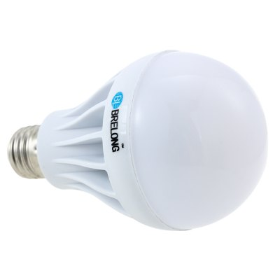 Brelong E27 1000LM 12W SMD - 5630 LED Light BulbGlobe bulbs<br>Brelong E27 1000LM 12W SMD - 5630 LED Light Bulb<br><br>Available Light Color: White,Warm White<br>Brand: BRELONG<br>CCT/Wavelength: 3000-3500K,6000-6500K<br>Emitter Types: SMD 5630<br>Features: Long Life Expectancy, Energy Saving, Low Power Consumption<br>Function: Studio and Exhibition Lighting, Commercial Lighting, Home Lighting<br>Holder: E27<br>Luminous Flux: 1000Lm<br>Output Power: 12W<br>Package Contents: 1 x Globe Bulb<br>Package size (L x W x H): 9 x 9 x 14.6 cm / 3.54 x 3.54 x 5.74 inches<br>Package weight: 0.13 kg<br>Product size (L x W x H): 8 x 8 x 13.6 cm / 3.14 x 3.14 x 5.34 inches<br>Product weight: 0.090 kg<br>Sheathing Material: Plastic<br>Total Emitters: 24pcs<br>Type: Ball Bulbs<br>Voltage (V): AC 220-240