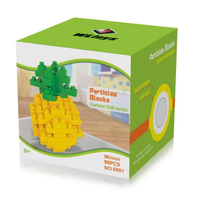 WLtoys 90 Pcs Pineapple Building Block 6601 IQ TrainingBlock Toys<br>WLtoys 90 Pcs Pineapple Building Block 6601 IQ Training<br><br>Age: 9 Years+<br>Applicable gender: Unisex<br>Brand: WLtoys<br>Design Style: Geometric Shape<br>Features: Educational<br>Material: ABS<br>Package Contents: 90 x Block<br>Package size (L x W x H): 7.00 x 7.00 x 7.00 cm / 2.76 x 2.76 x 2.76 inches<br>Package weight: 0.0960 kg<br>Product Model: 6601<br>Puzzle Style: 3D Puzzle<br>Small Parts : Yes<br>Type: Building Blocks<br>Washing: Yes
