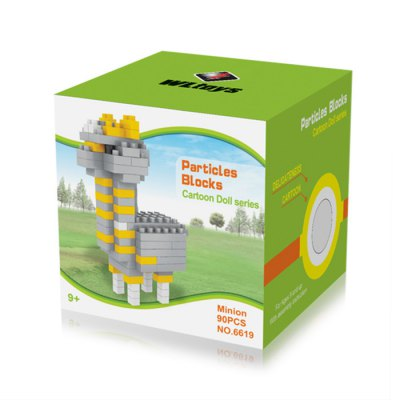 WLtoys 90 Pcs Alpaca Building Block 6619 IQ TrainingBlock Toys<br>WLtoys 90 Pcs Alpaca Building Block 6619 IQ Training<br><br>Age: 9 Years+<br>Applicable gender: Unisex<br>Brand: WLtoys<br>Design Style: Animal<br>Features: Educational<br>Material: ABS<br>Package Contents: 90 x Block<br>Package size (L x W x H): 7 x 7 x 7 cm / 2.75 x 2.75 x 2.75 inches<br>Package weight: 0.04 kg<br>Product Model: 6619<br>Puzzle Style: 3D Puzzle<br>Small Parts : Yes<br>Type: Building Blocks<br>Washing: Yes