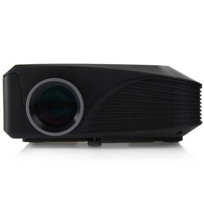 H809 LED ProjectorProjectors<br>H809 LED Projector<br><br>Brightness: 1000LM<br>Certificate: CE,FCC<br>Color: Black,White<br>Contrast Ratio: 1000:1<br>Display type: LCD<br>Image Scale: 4:3,16:9<br>Image Size: 80 - 150 inch<br>Interface: VGA, TF Card Slot, AV, USB, HDMI<br>Lamp Life: 20000 hours<br>Native Resolution: 800 x 600<br>Package Contents: 1 x H809 LED Projector, 1 x IR Remote, 1 x AV Cable, 1 x Power Adapter, 1 x Lens Cap, 1 x English User Manual<br>Package size (L x W x H): 25.00 x 14.00 x 22.00 cm / 9.84 x 5.51 x 8.66 inches<br>Package weight: 1.230 KG<br>Product size (L x W x H): 21.00 x 16.20 x 8.00 cm / 8.27 x 6.38 x 3.15 inches<br>Product weight: 0.882KG<br>Projection Distance: 1.07 - 4.1m<br>Resolution Support: 1920 x 1080